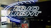 BUD LIGHT NEON SIGN OFFICIAL BEER SPONSOR NFL